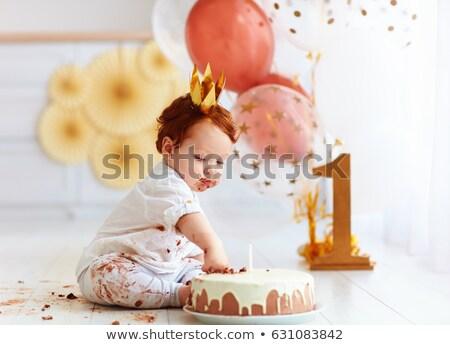 baby · compleanno · felice · presenti · cartoon · felicità - foto d'archivio © tiKkraf69
