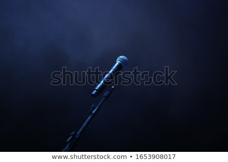 microfoon · Blauw · record · studio · abstract · donkere - stockfoto © your_lucky_photo