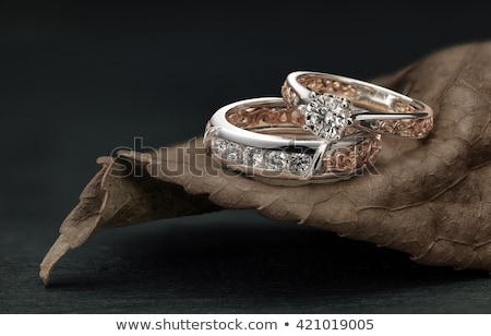 Diamonds or jewelry gemstones on black  Stock photo © Arsgera