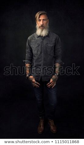 модный · случайный · человека · позируют · один · сторона - Сток-фото © feedough