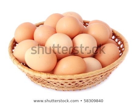 Cesta completo grande huevos marrón Foto stock © ozgur