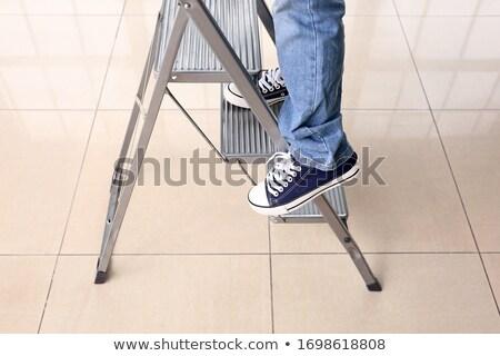дома шаг лестнице вектора дизайна иллюстрация Сток-фото © RAStudio