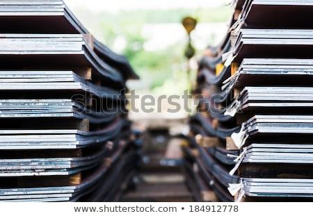 Corroded steel iron plate texture Stock photo © stevanovicigor