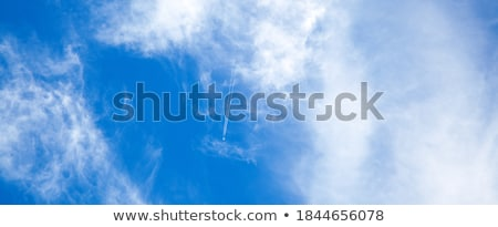 Condensatie parcours blauwe hemel natuur achtergrond aarde Stockfoto © meinzahn