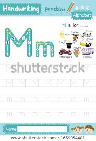 Letra m música ilustração guitarra fundo arte Foto stock © bluering
