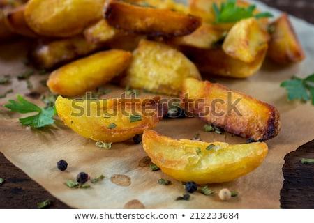 hamburger · sült · krumpli · hús · majonéz · ebéd - stock fotó © Digifoodstock