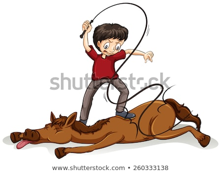 Man beating the horse Stock photo © bluering