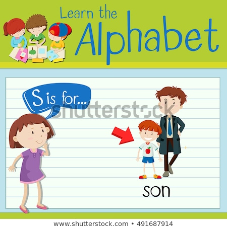 Flashcard letter S is for son Stock photo © bluering