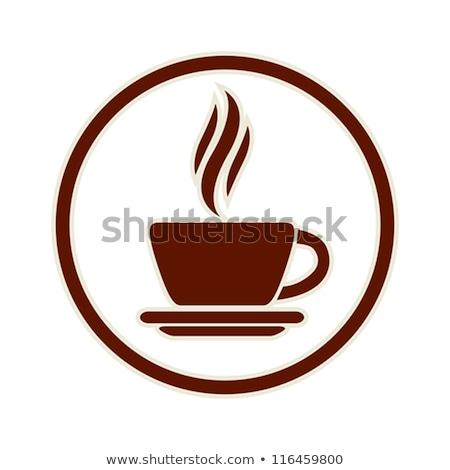 Przyciski kawy biały tle czerwony Zdjęcia stock © bluering
