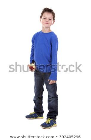 blanche · tshirt · jeans · enfance · mode - photo stock © zdenkam