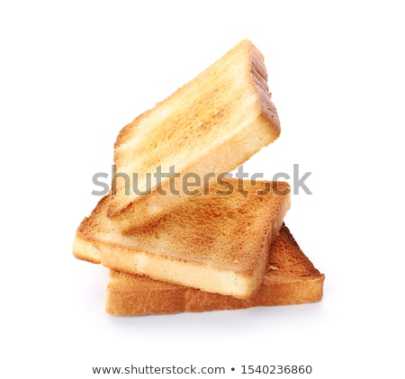 焼いた 白パン スライス 白 プレート グループ ストックフォト © Digifoodstock