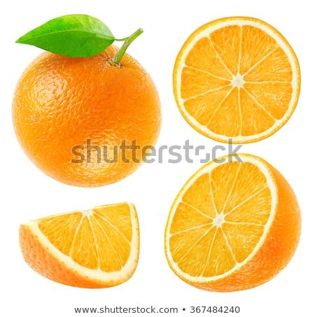 Oranje wig witte voedsel vruchten witte achtergrond Stockfoto © Digifoodstock