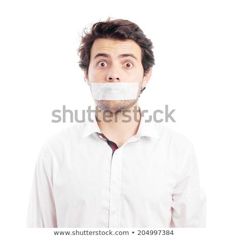 üzletember felfelé kötél izolált fehér üzlet Stock fotó © Elnur