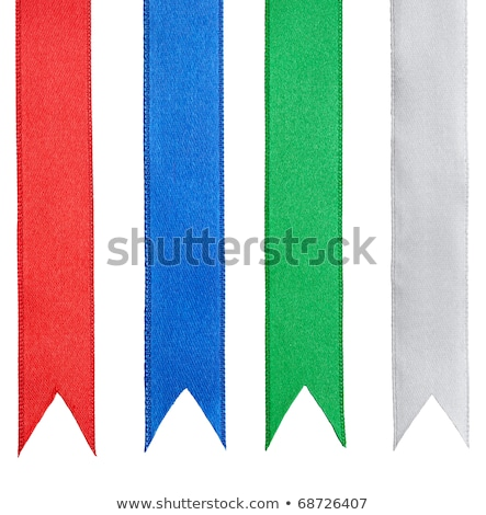 Shiny purple satin ribbon on white background Stock photo © fresh_5265954
