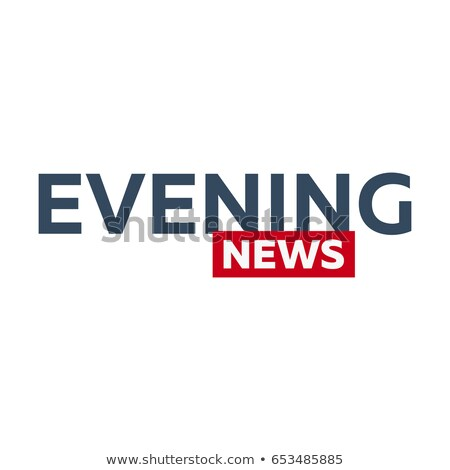 Kitle medya akşam haber logo televizyon Stok fotoğraf © Leo_Edition