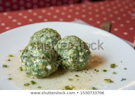 spinach dumplings Stock photo © phbcz