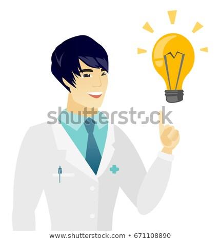 nagyszerű · ötlet · villanykörte · forma · adatbázis · képzelet - stock fotó © rastudio