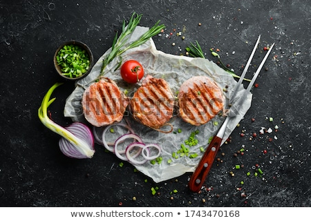 Carne di maiale fresche rosmarino nero Foto d'archivio © Digifoodstock