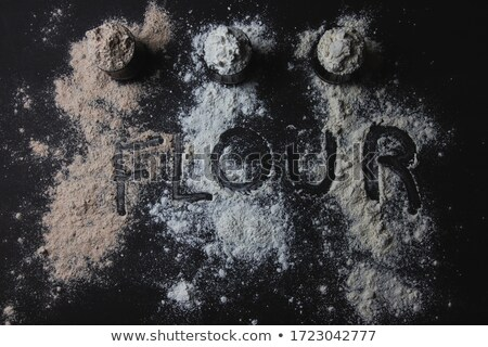 Szó gluténmentes írott liszt közelkép telefon Stock fotó © wavebreak_media