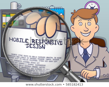 Business Interaction through Magnifying Glass. Doodle Style. Stock photo © tashatuvango