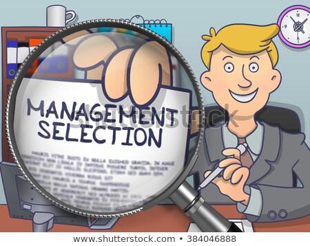 vergrootglas · doodle · stijl · zakenman · tonen · tekst - stockfoto © tashatuvango