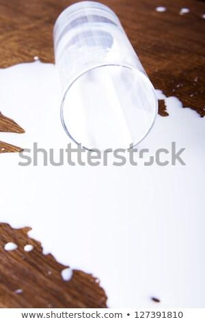spilt glass of milk Stock photo © IS2