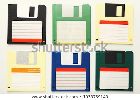 Magnetic floppy disc flat icon Stock photo © smoki