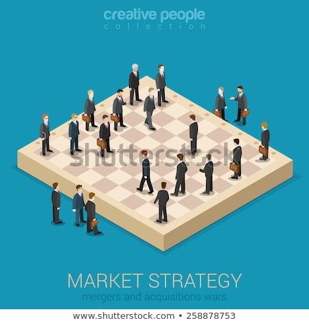 Vetor estratégia de negócios modelo xadrez financiar corporativo Foto stock © orson