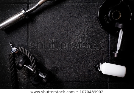 Fitness equipment on a dark background - Personal Training Stock photo © Zerbor