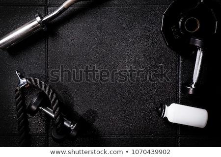 フィットネス 暗い 個人 訓練 書く ストックフォト © Zerbor