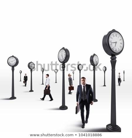 Homens de negócios sempre olho relógio 3D Foto stock © alphaspirit