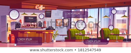バー · インテリア · カウンタ · レストラン · スタイル · ベクトル - ストックフォト © rastudio
