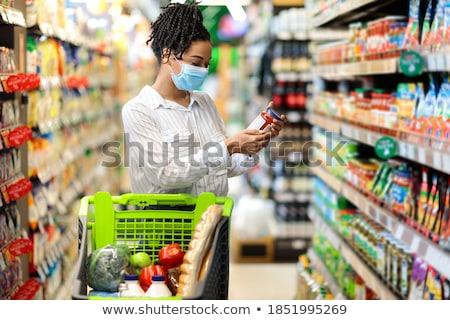 Winkelen dame illustratie abstract schoonheid jonge Stockfoto © get4net