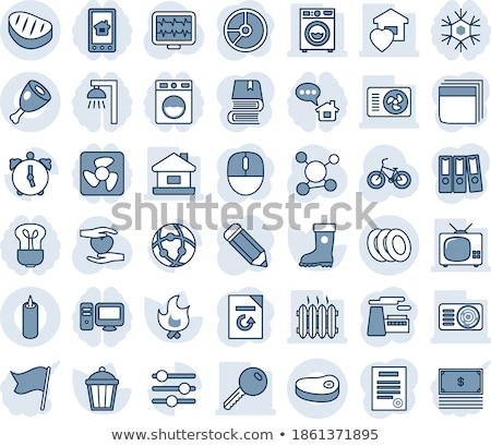 Alarm icon on a circle with shade and white background Stock photo © Imaagio