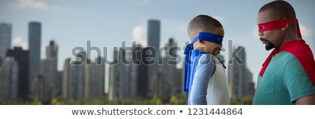 Filho pai edifícios céu pôr do sol menina Foto stock © wavebreak_media