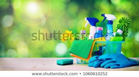 化学 ボトル 手袋 バケット 緑 ストックフォト © wavebreak_media