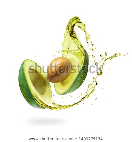 Awokado oleju szkła butelki diety żywności Zdjęcia stock © tycoon