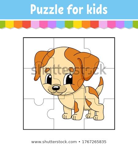 Partido piezas rompecabezas juego perros Cartoon Foto stock © izakowski