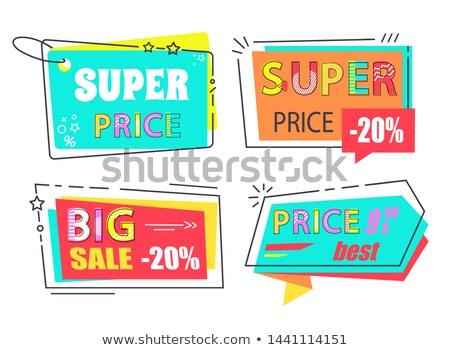 Super Price Big Sale 20 Set Stickers Flat Style Stock photo © robuart