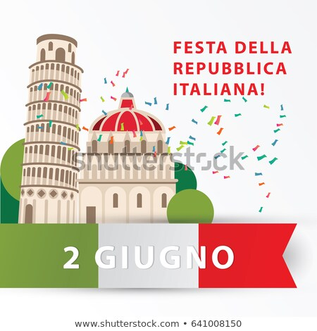 Tower of Pisa Web Page and Text Vector Illustration Stock photo © robuart