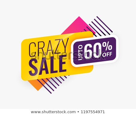 sale sand promotion modern label design in memphis style Stock photo © SArts