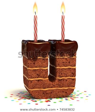 Cartoon Letter U Birthday Stock photo © cthoman