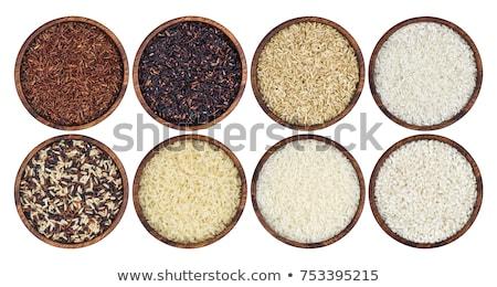 çanak karışık pirinç plaka Stok fotoğraf © Digifoodstock