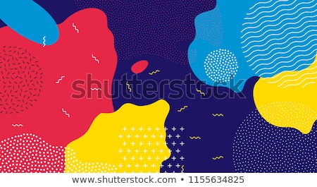 Stock photo: vibrant memphis style fluid color abstract background