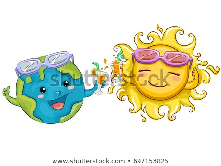earth sun drinks toast illustration stock photo © lenm