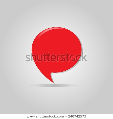 Bubble chat location marker pin place pointer icon. Stock photo © kyryloff
