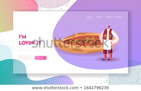 Kulinarny turystyki lądowanie strona jeść Zdjęcia stock © RAStudio