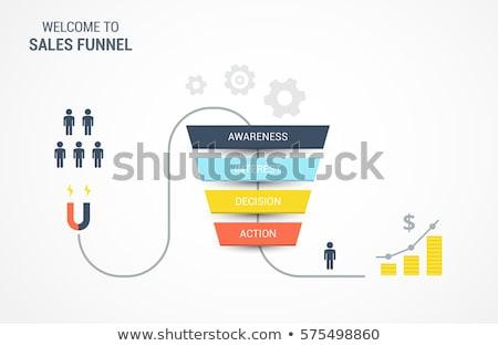 Verkoop trechter beheer klanten koper kopen Stockfoto © RAStudio