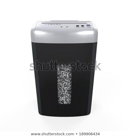 paper shredder, office appliance. secret information Stock photo © rogistok