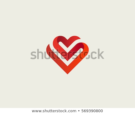heart logo vector design element symbol Stock photo © blaskorizov